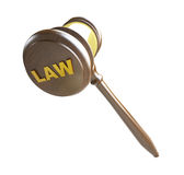 Gavel law. On a white background Stock Images