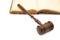 Gavel and law book Stock Photography