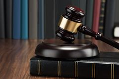 Gavel and law book Stock Photos
