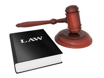 Gavel and law book Royalty Free Stock Photos