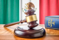 Gavel and a law book - Mexico Royalty Free Stock Photos