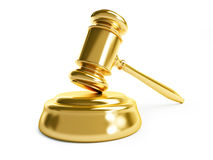 Gavel law gold Royalty Free Stock Images