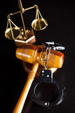 Gavel,Law theme, mallet of judge Royalty Free Stock Photos