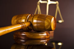 Gavel,Law theme, mallet of judge Royalty Free Stock Photography