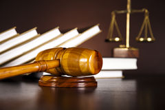Gavel,Law theme, mallet of judge Stock Photo