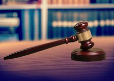 Gavel. Lawyer auction hammer mallet icon judgment Stock Photo