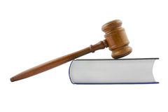 Gavel and legal book isolated Stock Image