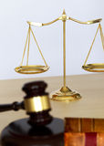 Gavel and legal Judge gavel scales of justice and law working on Royalty Free Stock Image