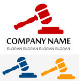 Gavel logo vector Royalty Free Stock Photography