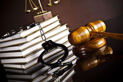 Gavel, Mallet of justice concept Royalty Free Stock Photos