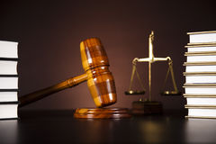 Gavel, Mallet of justice concept Stock Photos