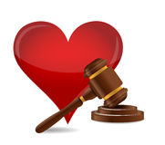 Gavel marriage concept illustration. Design over a white background Royalty Free Stock Photography