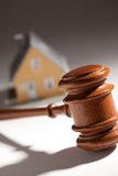 Gavel and Model Home Stock Photos