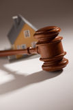 Gavel and Model Home Stock Photography