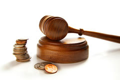 Gavel money stock photo