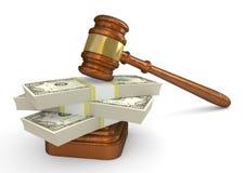 Gavel and money Stock Image
