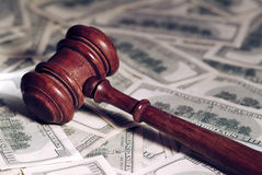 Gavel & Money. Stock Photos
