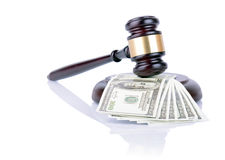 Gavel and money Stock Photos