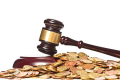 Gavel and money Royalty Free Stock Photos