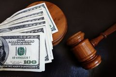 Gavel with money Stock Image