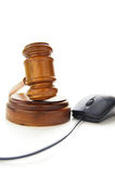Gavel and mouse Royalty Free Stock Photos