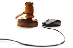Gavel and mouse Royalty Free Stock Photography