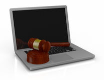 Gavel and notebook Royalty Free Stock Photo