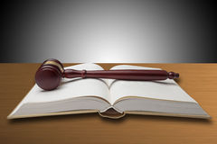 Gavel on open book Royalty Free Stock Images