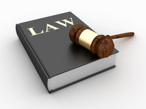 Gavel over Law Book Stock Photo