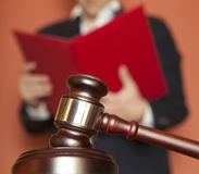 Gavel and Person in Suit Royalty Free Stock Photo
