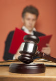 Gavel and Person in Suit Stock Photography
