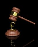Gavel with pound design Stock Photography