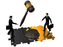 Gavel,puzzle and businessman Stock Image