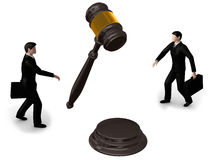 Gavel,puzzle and businessman Royalty Free Stock Photography