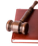 Gavel on red book Royalty Free Stock Images
