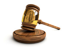 Gavel with the reflection of dollar Stock Images