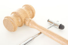 Gavel with reflex hammer Stock Photo
