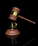 Gavel with ruble design Royalty Free Stock Photography