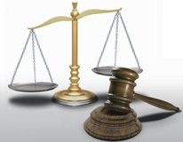 Gavel and scale Royalty Free Stock Image