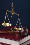 Gavel and scale Royalty Free Stock Images