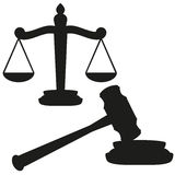 Gavel and scales Stock Photography
