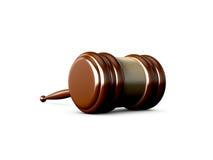 Gavel. Shiny wooden gavel, isolated on white background Royalty Free Stock Image