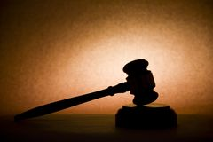Gavel in Silhouette Royalty Free Stock Images