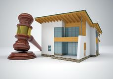 Gavel and small house Stock Image
