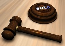 Gavel with SOLD Royalty Free Stock Image