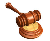 Gavel and soundblock Royalty Free Stock Image