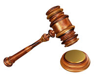 Gavel and soundblock Stock Photo