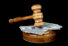 Gavel and  soundblock Royalty Free Stock Images
