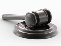 Gavel and stand Royalty Free Stock Photography
