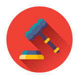 Gavel with stand icon Stock Images